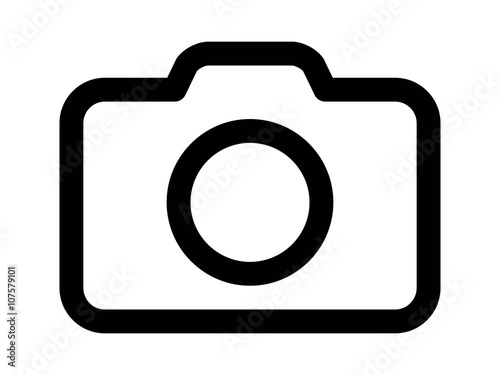 Fotografía Photography camera line art icon for apps and websites