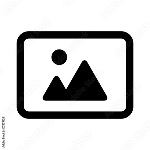 Landscape photo image or picture placeholder flat icon Wall mural