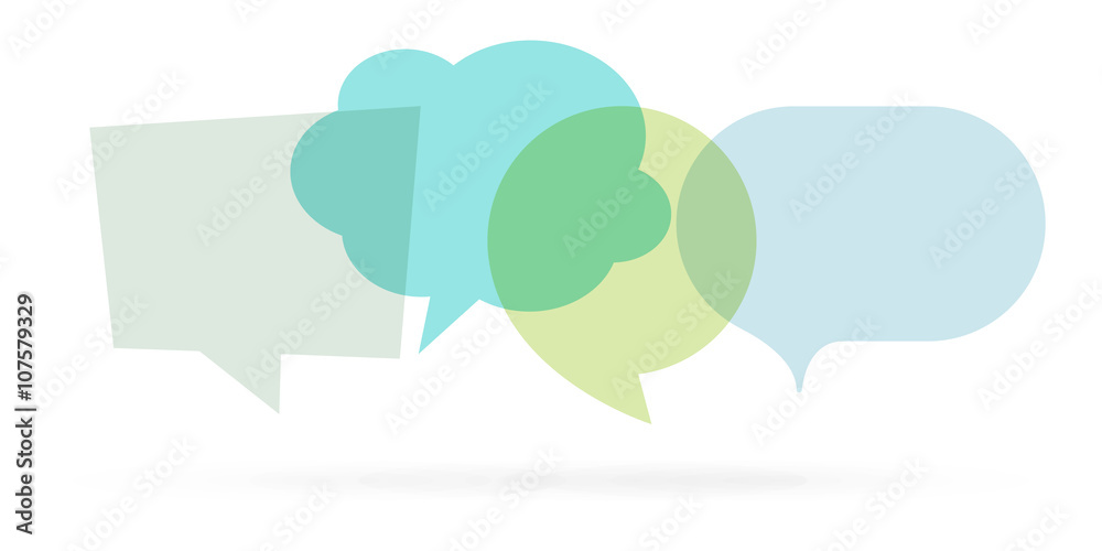 Fototapeta 4 bulles / 4 speech bubbles
