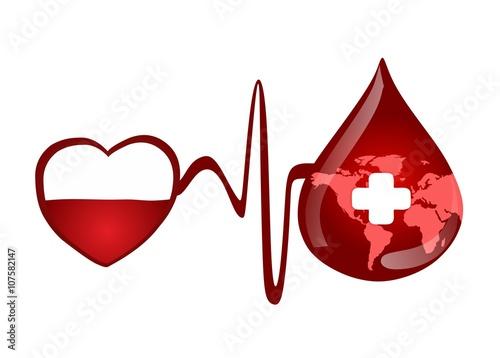 Fotografie, Obraz  blood donation in the world