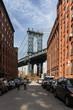 Washington Street mit Blick auf Manhattan Bridge