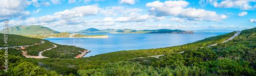 panorama of coast of alghero in spring sardinia Canvas Print