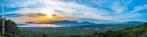 Photo  panorama of coast of alghero in spring sardinia