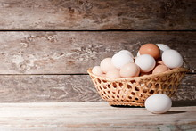 Basket Of Eggs On The Table, O...