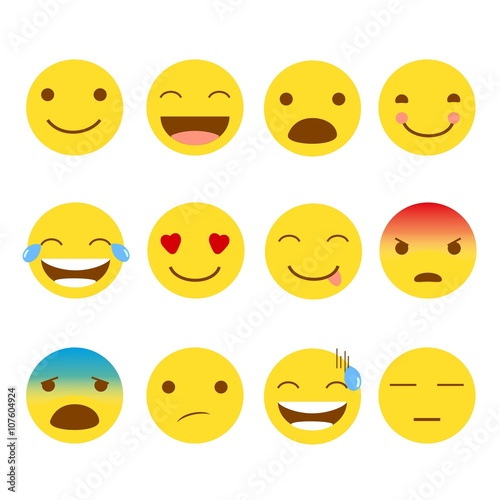 Photo  12 Set of Emojis