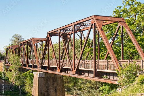 Historic Trestle Train Bridge Fototapet