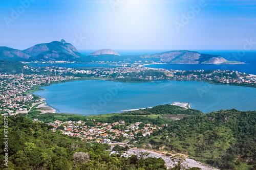 2b9541501 Aerial View of Regiao Oceanica in Niteroi, Rio de Janeiro, Brazi ...