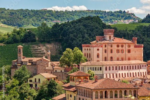 Old town of Barolo. Canvas Print