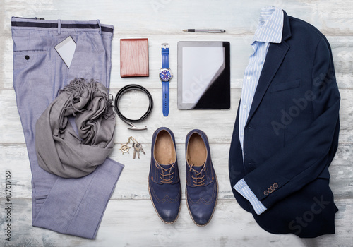 Plakat  Set of mans fashion and accessories