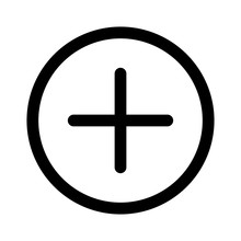 Add Item / Positive Sign Line Art Icon For Apps And Websites