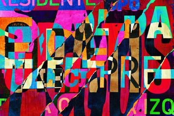 Fototapeta Abstrakcja Background random digital collage or typography design wallpaper