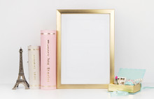 Gold Picture Frame With Decora...