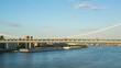 manhattan bridge sunny 4k time lapse from new york usa