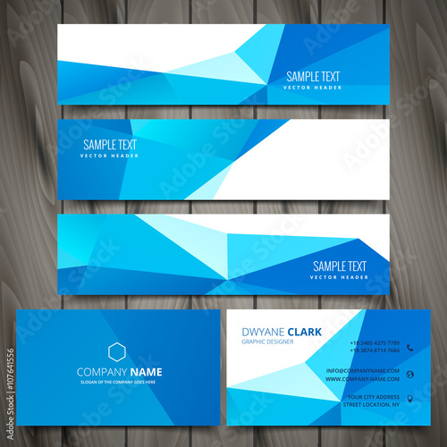Fototapeta business stationery collection including web banners and busines obraz