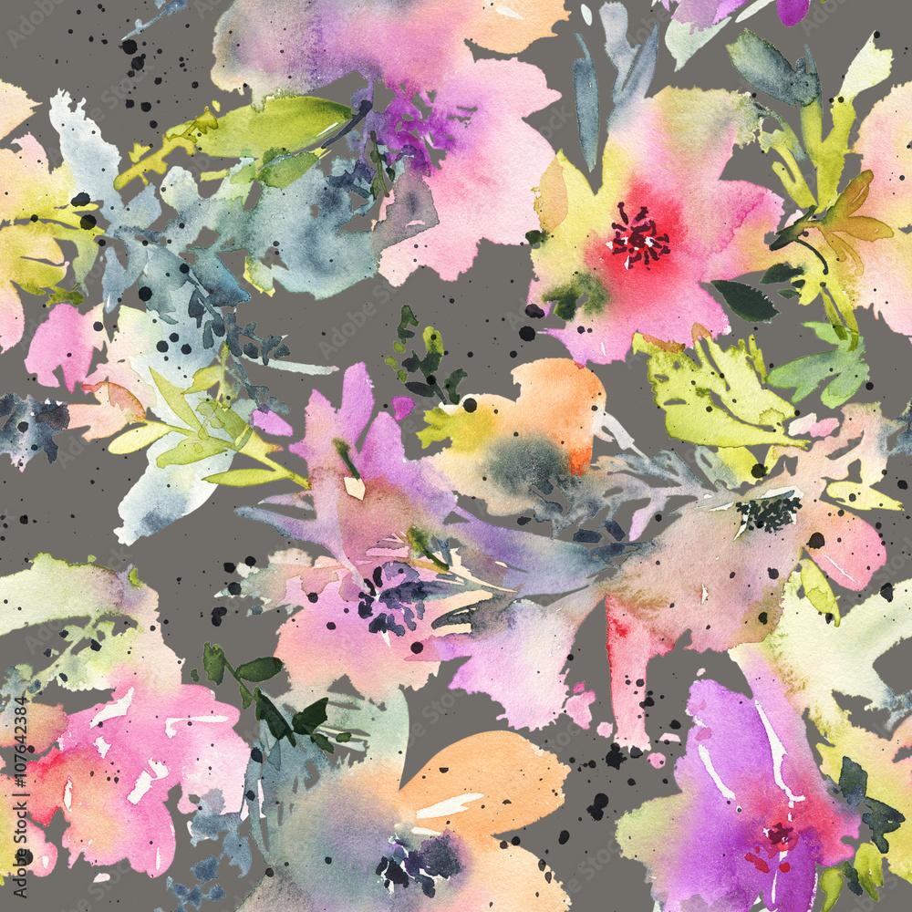 Ilustracja Akwarela Kwiaty Skład Ręczny Dzień Matki ślub