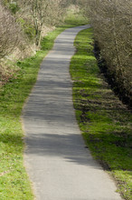 Fallowfield Loop Line, Cycling And Walking Path Placed On Old Railway Line