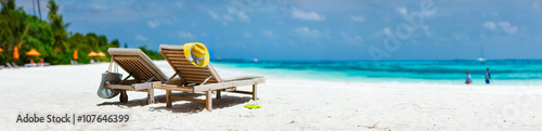 Staande foto Strand Tropical beach vacation