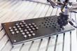 Robot mechanical arm arranging metal balls