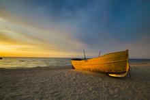 Fishing Boat On The Sea Shore ...