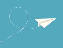 Vector Paper Plane.