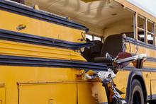 School Bus Accident Collision Damage EMS Response