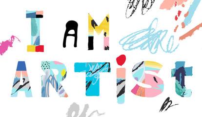 NaklejkaCreativity and Inspiration. .Vector illustration