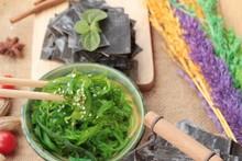 Seaweed Salad Is Delicious And Dries Seaweed.