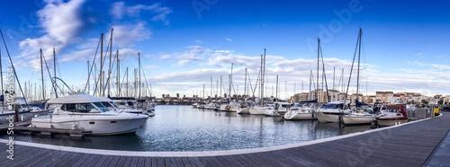 Obraz na plátne Le port de plaisance du Cap d'Agde, Languedoc en France