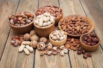Fototapeta samoprzylepna Variety of nuts