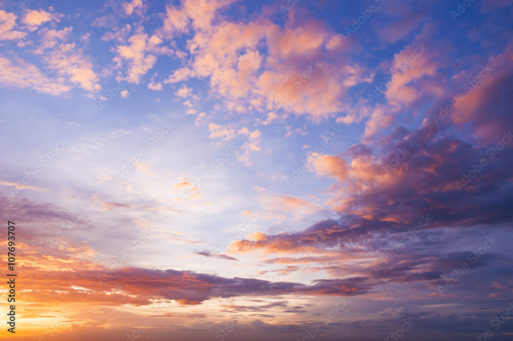 Fototapety, obrazy: Nice twilight sky and could
