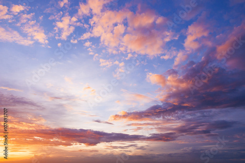 Fotografie, Obraz  Nice twilight sky and could