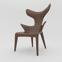 Philippe Starck Chair 3D Illustration. On White Background With Shadows And Isolated. Leather And Strings