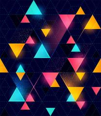 Fototapeta Do dyskoteki Seamless Neon Geometric Pattern