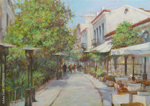 streets-of-athens-greece-handmade-paintings