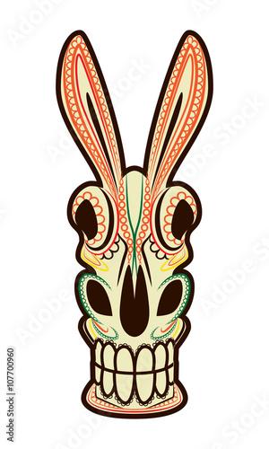 Photo  El Burro Dia de los Muertos Donkey Skull