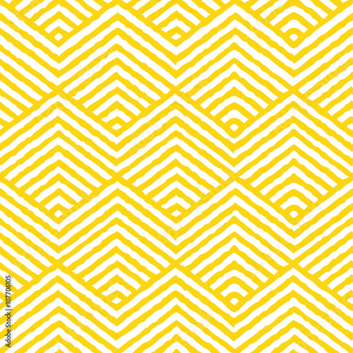 Carta da parati Seamless Vector Geometric Pattern