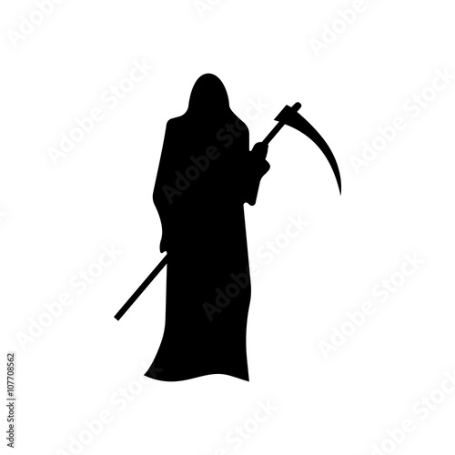 Photo Death with a scythe silhouette