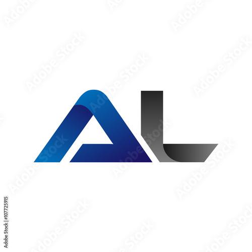 Photo Modern Simple Initial Logo Vector Blue Grey al