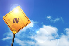 Yellow Road Sign With A Blue Sky And White Clouds: Delicious Dip