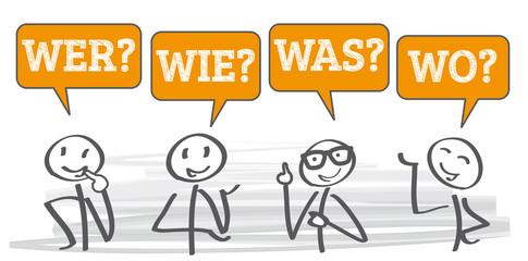 wer, wie, was, wo - Fragen