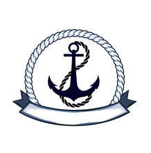 The Icon Of Anchor With Banner For You Text