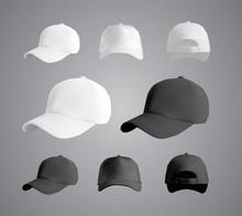 Baseball Cap Black And White T...
