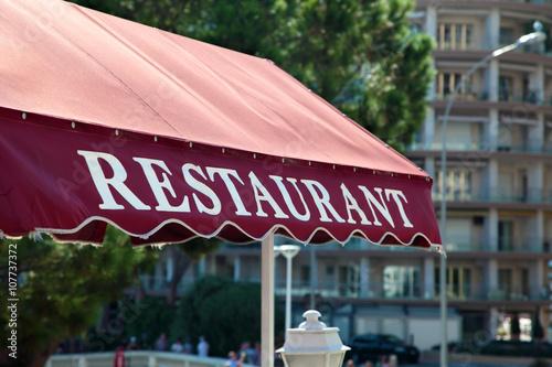 Fotografie, Obraz  Canopy of restaurant in South France