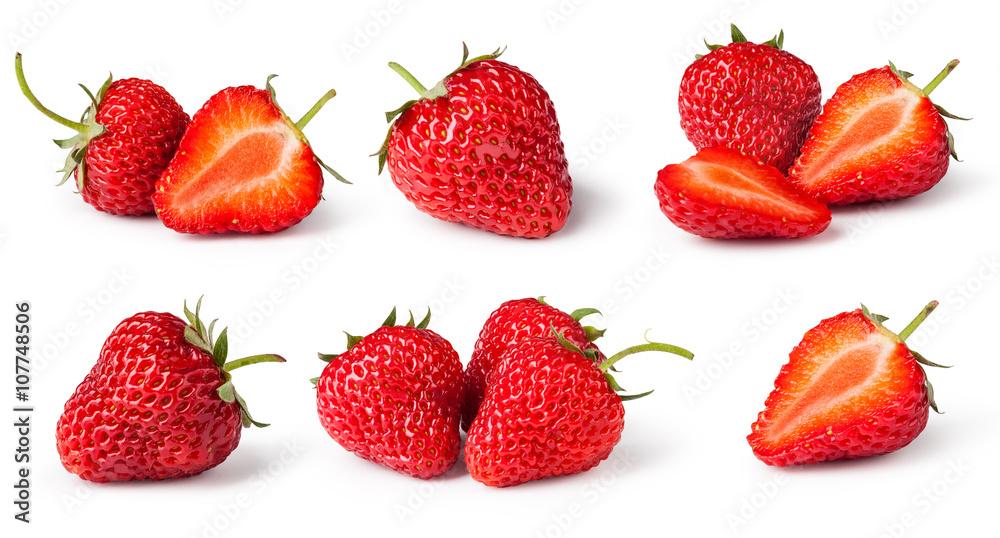 Fototapety, obrazy: set of Strawberries