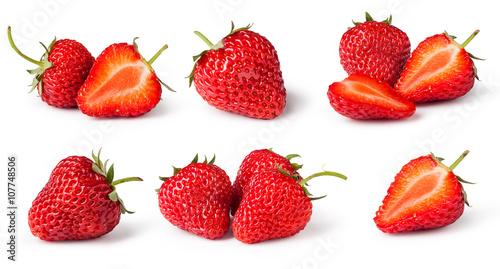 set of Strawberries Canvas Print