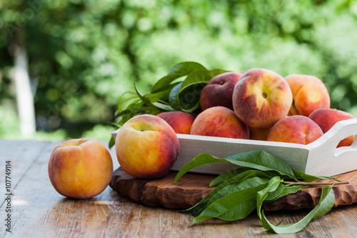 fresh peaches Fototapeta