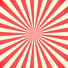 White And Red Sunburst Pattern Background
