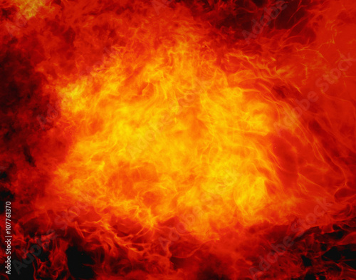 Foto fire background as a symbol of hell and inferno