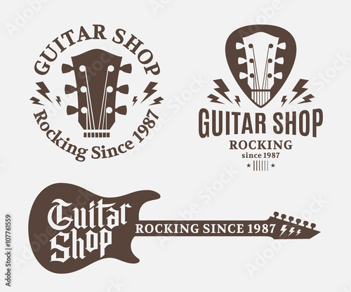 Photo  Set of Guitar Shop Logo