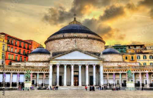 Garden Poster Napels San Francesco di Paola Basilica in Naples